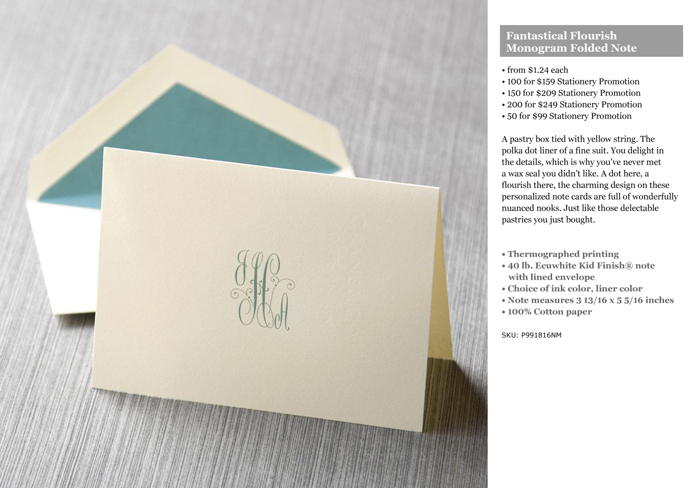 including our latest personalized stationery promotion choose a design ink color envelope liner color and voila 50 personalized note card sets for 99 - Custom Folded Note Cards